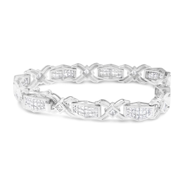 14k White Gold 6ct TDW Diamond Tennis Bracelet (H-I, SI1-SI2)