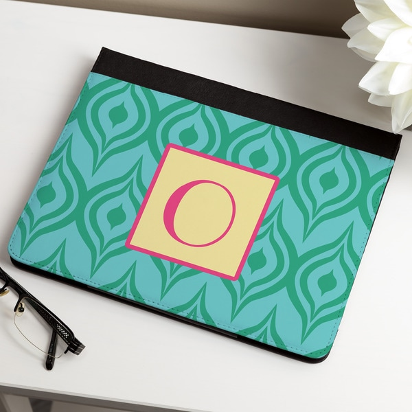 Green Ikat Personalized iPAD Case