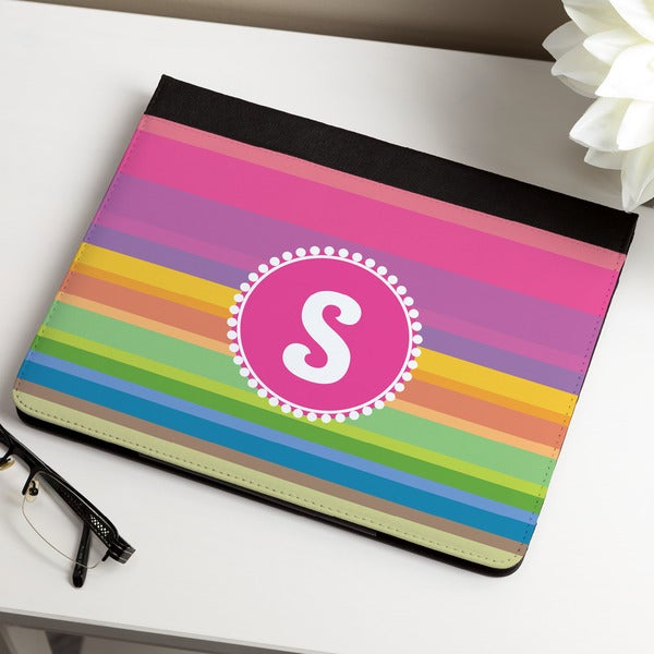 Rainbow Stripes Personalized iPAD Case