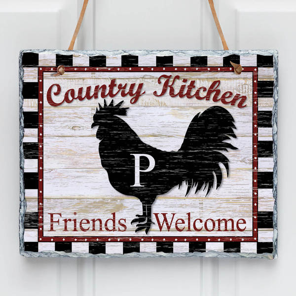 Country Kitchen Personalized Wall Slate