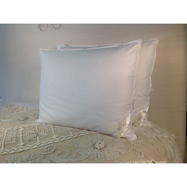 Hungarian Goose Down and Feather Egyptian Cotton King Size Pillow 240 TC