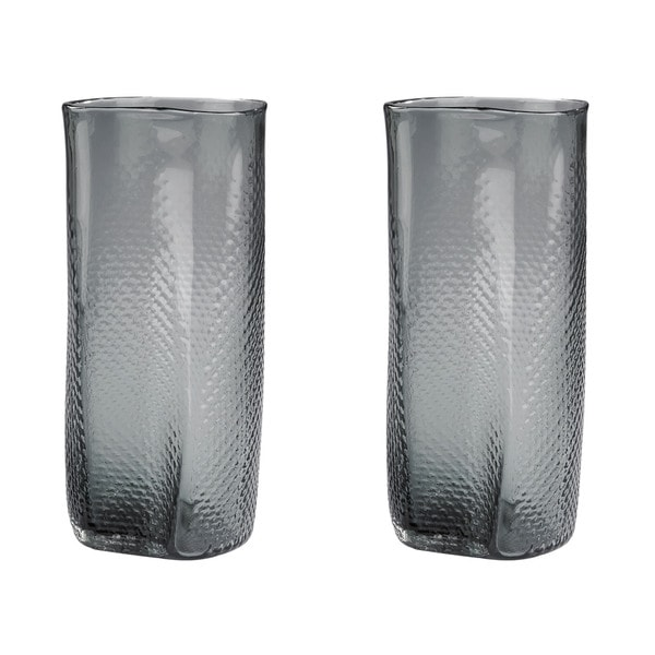 Dimond Home Grey Etched Glass Vase