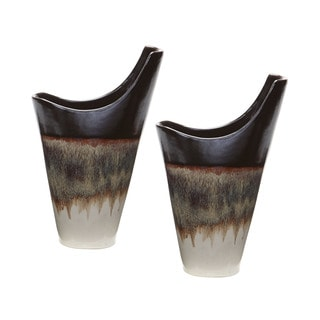 Dimond Home Small Reaction Vases In Cascade Mocha (Set of 2)