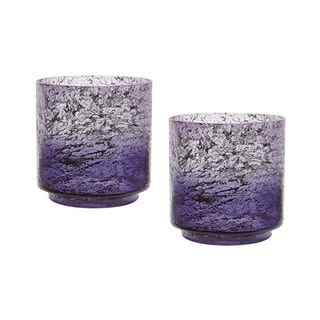 Dimond Home Plum Ombre Hurricane (Set of 2)