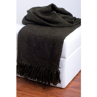 Rizzy Home Brown Decorative Throw