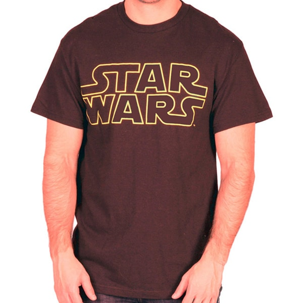 Men's Star Wars Logo T-Shirt, Brown (As Is Item)