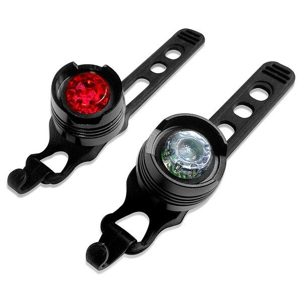 LED Concepts Bike Light Front and Rear Aluminum Bike Light Set (2 Wheels Lights/ 2 Waterproof Multi-Purpose Rear Bike Light)