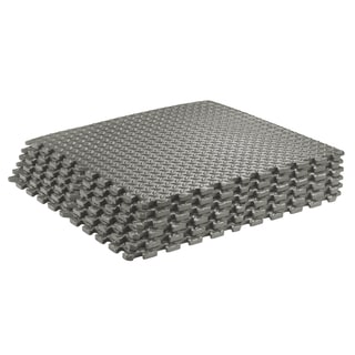 Sivan Health and Fitness® Puzzle Exercise Mat High Quality EVA Foam Interlocking Tiles-Grey