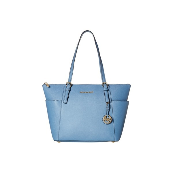 Michael Kors Jet Set Top Zip East/ West Cornflower Tote