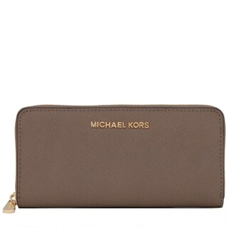 Michael Kors Jet Set Leather Dark Dune Continental Travel Wallet