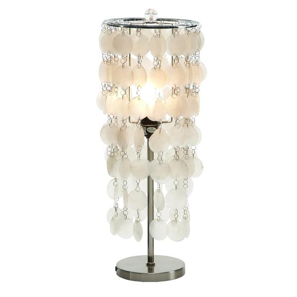 Hanging Capiz Shell Table Lamp