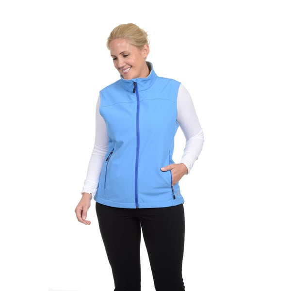 Champion Women's Plus Mock Neck Soft Shell Vest