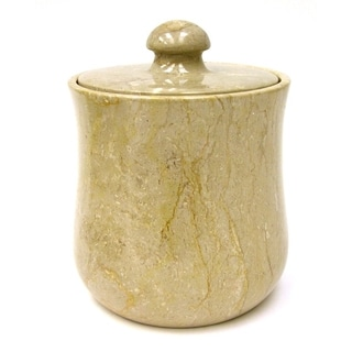 Sahara Beige Marble Modern 9-inch Kitchen Canister