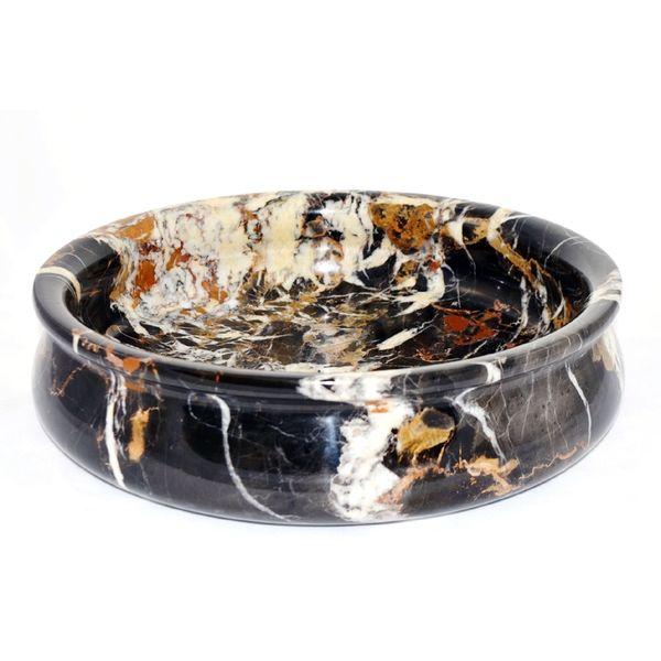 Michaelangelo Marble 12-inch Fruit Bowl