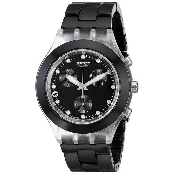 Swatch Men's SVCK4035G Chronograph Black Stainless Steel Watch