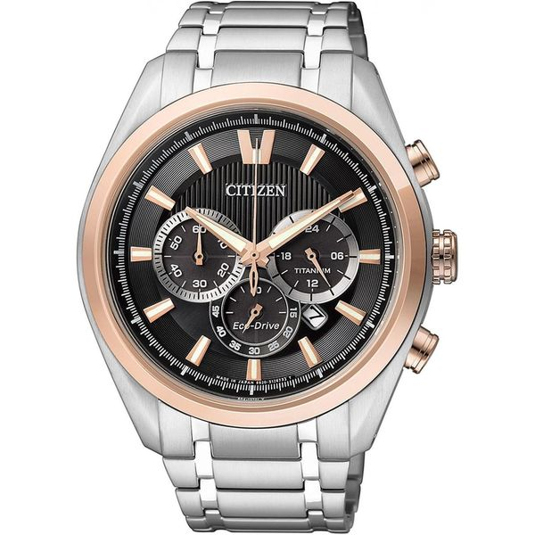 Citizen Men's CA4014-57E 'Eco-Drive' Chronograph Titanium Watch