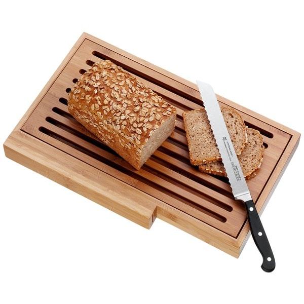 WMF Spitzenklasse Bread Knife Set with Bread Board and Tray