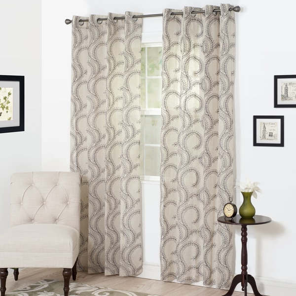 WH Lauren Embroidered Curtain Panel