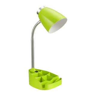 Limelights Gooseneck Organizer Desk Lamp with Green iPad Tablet Stand Book Holder