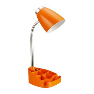 Limelights Gooseneck Organizer Desk Lamp with Orange iPad Tablet Stand Book Holder