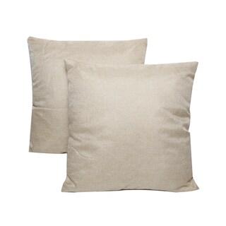 Cream 16-inch Throw Pillows (Set of 2)
