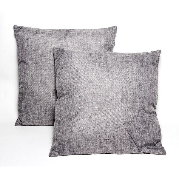 Dark Grey 16-inch Throw Pillows (Set of 2)