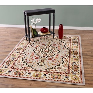 Traditional Persian Medallion Area Rug (7'10 x 9'10)