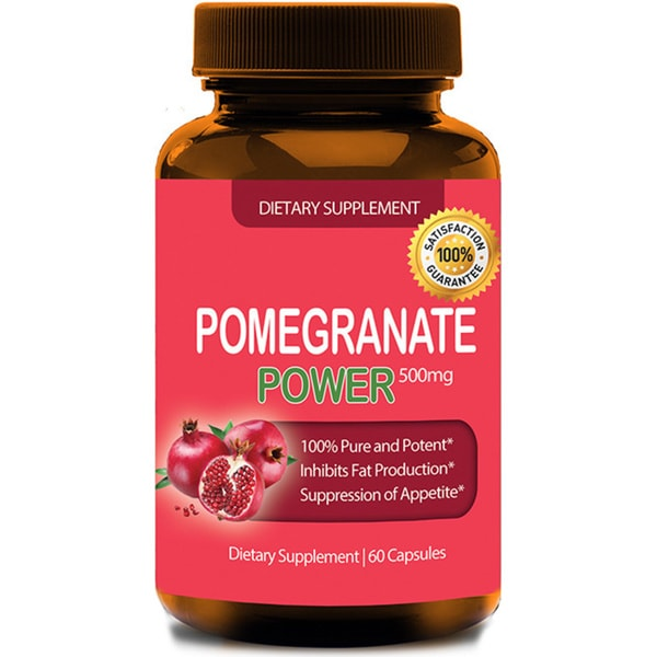 Pure Pomegranate Extract 500mg (60 Capsules)