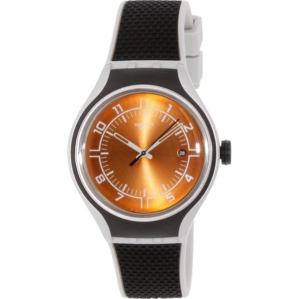 Swatch Men's Irony YES4002 Orange Rubber Swiss Quartz Watch