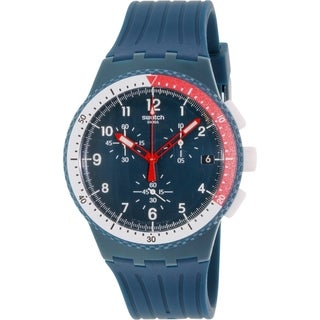 Swatch Men's Originals SUSN405 Blue Rubber Swiss Quartz Watch