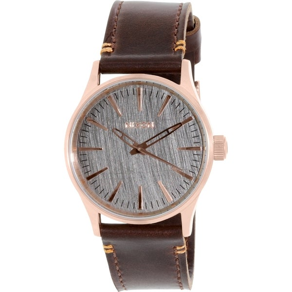 Nixon Men's Sentry A3772001 Rose Gold Leather Quartz Watch