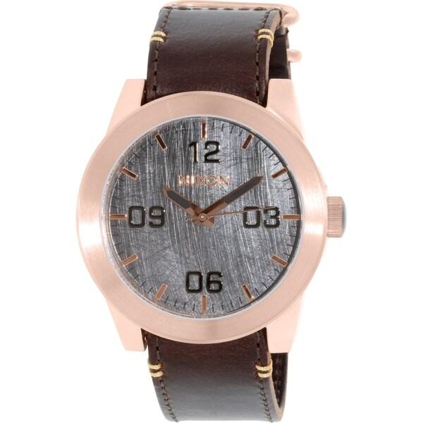 Nixon Men's Corporal A2432001 Rose Gold Leather Quartz Watch