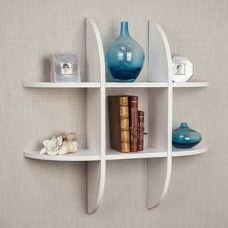 Danya B Tic Tac Toe Floating White Shelf
