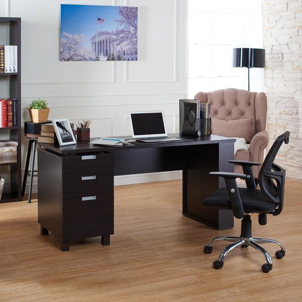 Furniture Of America Tuston Espresso Office Desk With