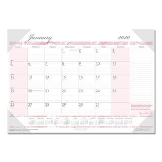House of Doolittle 2016 Breast Cancer Awareness Monthly Desk Pad Calendar