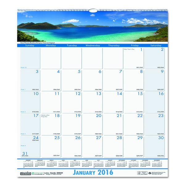 Coastlines 2016 Monthly Wall Calendar