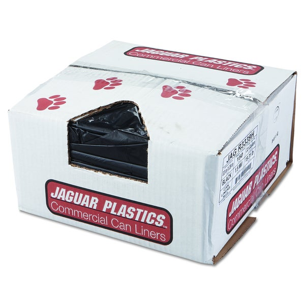 Jaguar Plastics Black Repro Low-Density Can Liners (Pack of 150 Liners)