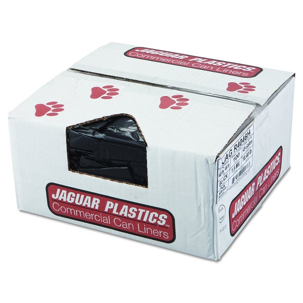 Jaguar Plastics Black, 40 x 46, Repro Low-Density Can Liners (Pack of 100 Liners)
