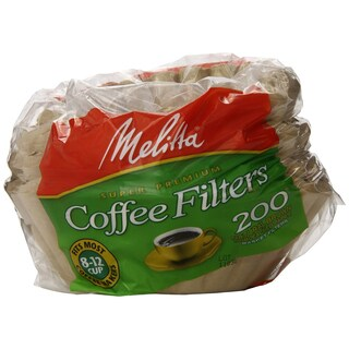 Melitta Basket Coffee Filters 200-Count Filters 8-pack
