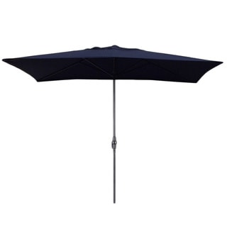 Escada Designs Navy Blue 6x10-foot Rectangular Patio Umbrella