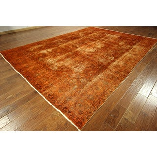 Overdyed Floral Oriental Rug (9' x 13')