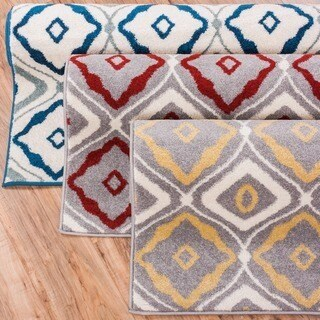 Modern Bold Lattice Area Rug (7'10 x 10'6)
