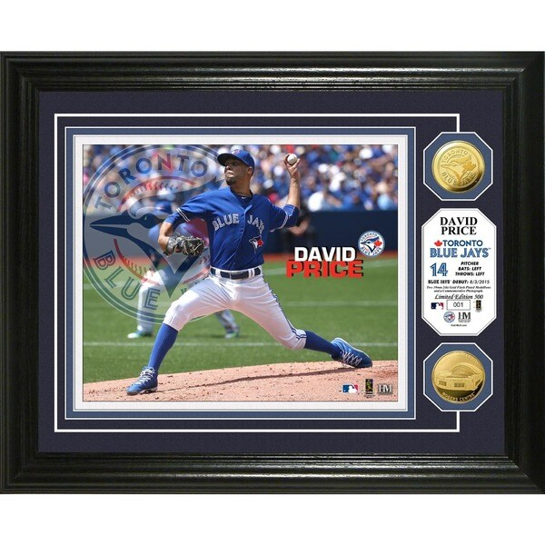 David Price Toronto Blue Jays Gold Coin Photo Mint