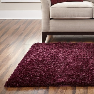 Spaces Home and Beyond By Welspun Maroon Eyelash Shag