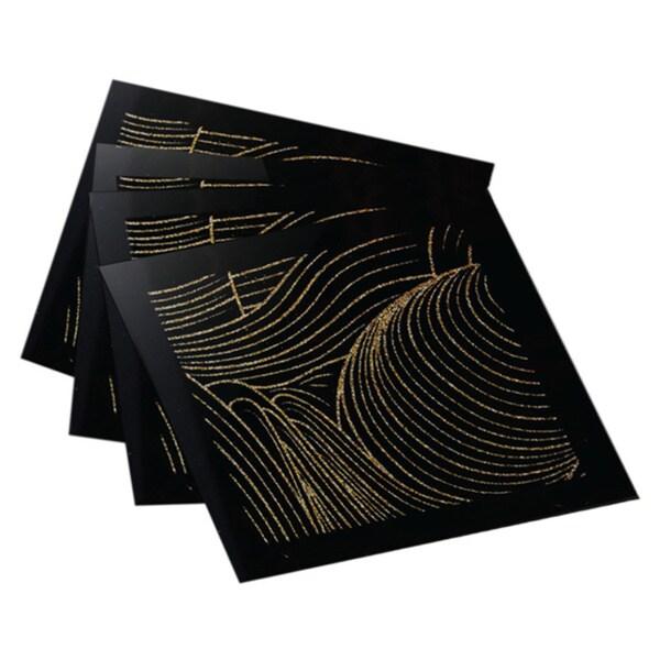 Allure Gold Swirl Coasters(Set of 4)