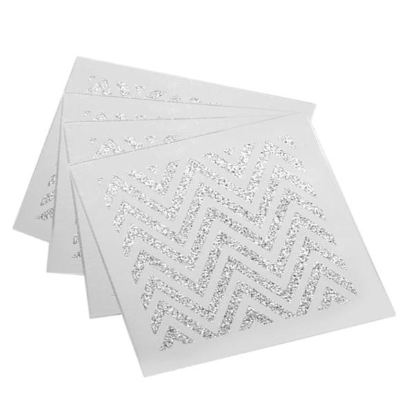 Allure Zig Zag Silver Coasters (Set of 4)