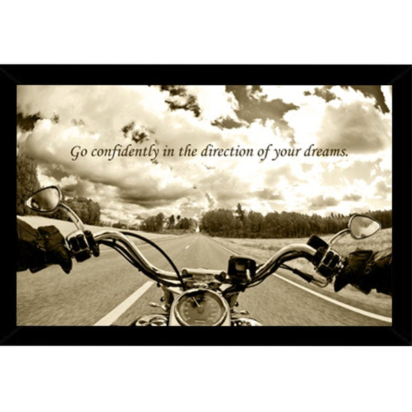 Ride Free Poster (24-inch x 36-inch) with Contemporary Poster Frame