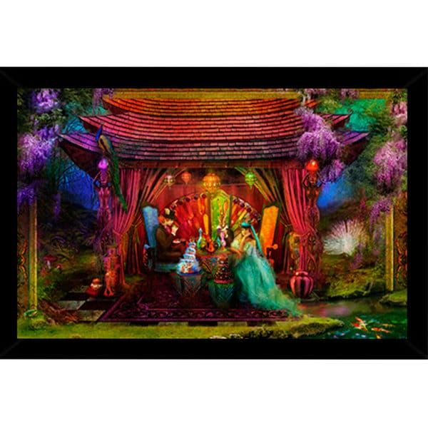 A Mad Tea Party Poster (24-inch x 36-inch) with Contemporary Poster Frame