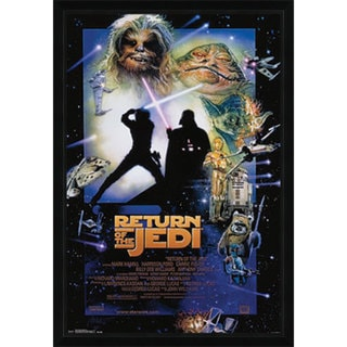 Star Wars Episode 6 Poster (22-inch x 34-inch) with Contemporary Poster Frame