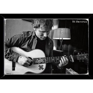 Ed Sheeran Guitar Poster (34-inch x 22-inch) with Contemporary Poster Frame